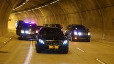 Yeni Tünelden Kendi Kullandığı Arabasıyla Geçti